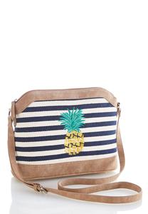 Embroidered Pineapple Crossbody