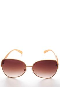 Rose Gold Square Sunglasses
