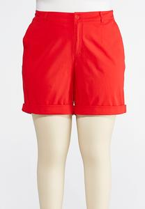Plus Size Chino Shorts