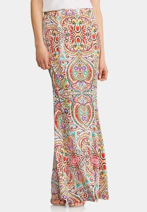 Plus Size Maui Mermaid Maxi Skirt