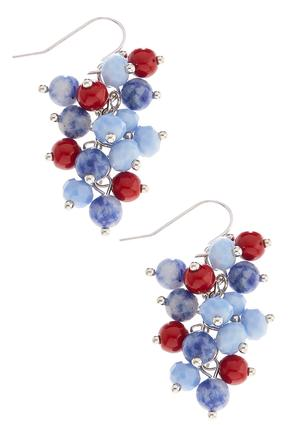 Small Beaded Cluster Earrings | Tuggl