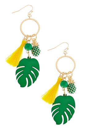 Pineapple And Palm Charm Tassel