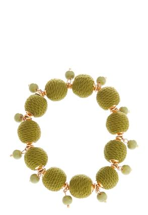 Thread Wrap Ball Stretch Bracelet