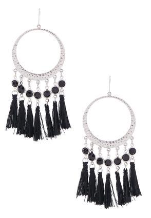 Fringe Gypsy Hoop Earrings | Tuggl