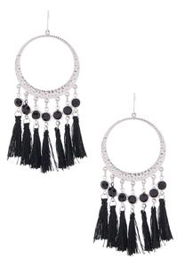 Fringe Gypsy Hoop Earrings
