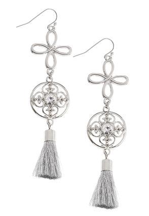 Medallion Tassel Earrings | Tuggl
