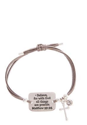 Inspirational Engraved Cord Bracelet | Tuggl