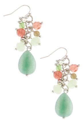 Neautral Cluster Dangle Earrings | Tuggl