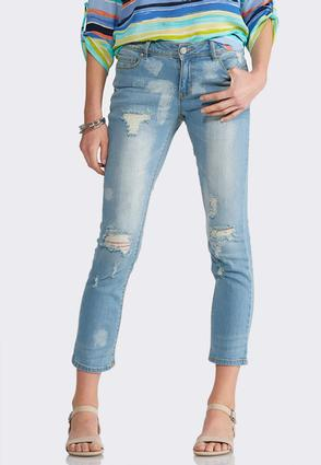 Distressed Crop Jeans | Tuggl