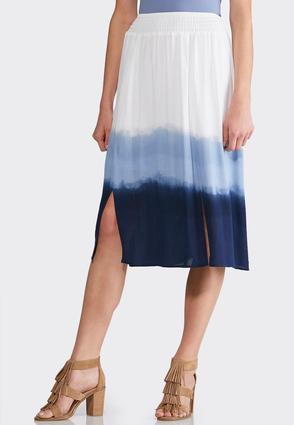 Dip Dye Gauze Skirt | Tuggl