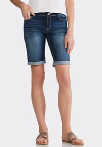 Dark Wash Bermuda Shorts