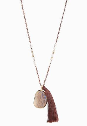 Stone Tassel Pendant Necklace at Cato in Brooklyn, NY | Tuggl