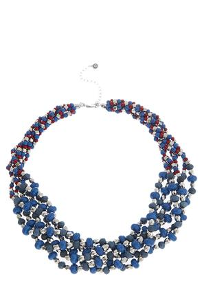 Beaded Multi Row Layered Necklace | Tuggl