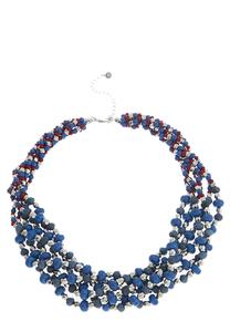Beaded Multi Row Layered Necklace