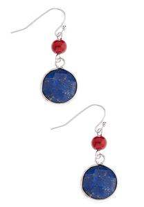 Beaded Semi Dangle Earrings