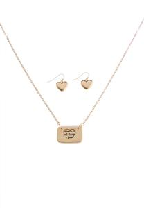 Inspirational Envelope Necklace Set