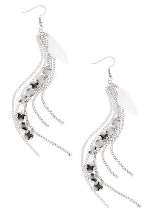 Multi Color Feather Dangle Earrings | Tuggl