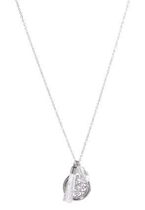 Long Pendant Medallion Charm Necklace | Tuggl
