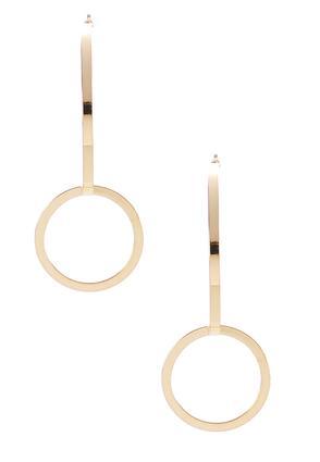 Half Hoop Circle Earrings | Tuggl