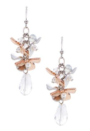 Pearl Flower Cluster Earrings | Tuggl