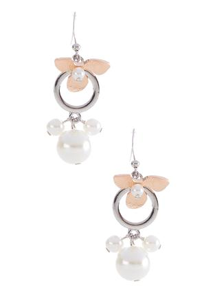 Pearl Flower Dangle Earrings | Tuggl