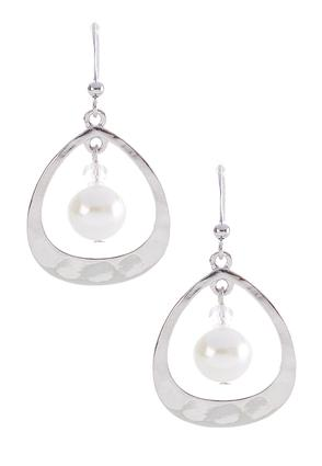 Tear Shaped Pearl Earrings | Tuggl