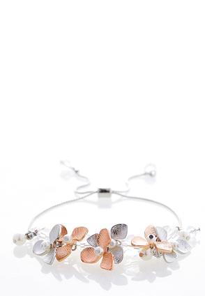Shaky Pearl Flower Bracelet | Tuggl