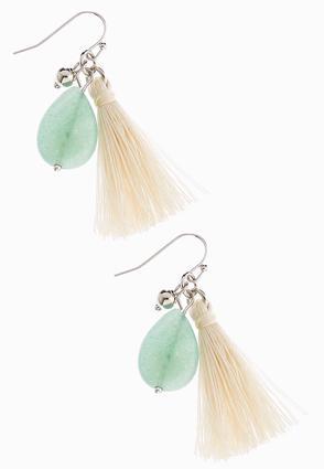 Two Tone Tassel Dangle Earrings | Tuggl