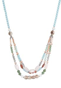 Multi Color Layered Beaded Necklace