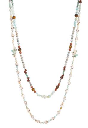 Dual Layered Mixed Beaded Necklace at Cato in Brooklyn, NY | Tuggl