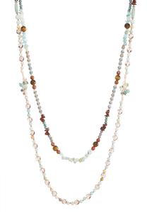 Dual Layered Mixed Beaded Necklace