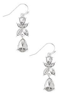 Rhinestone Tear Shaped Earrings