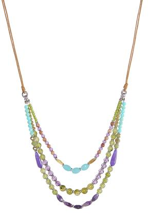Layered Bead Cord Necklace | Tuggl