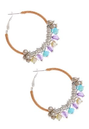 Thread Wrapped Beaded Hoop | Tuggl