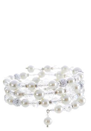 Beaded Pearl Coil Bracelet | Tuggl