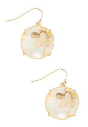 Floral Infused Round Earrings | Tuggl