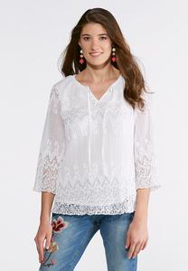 Pleated Lace Poet Top