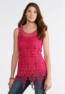 Crochet Scalloped Hem Tank