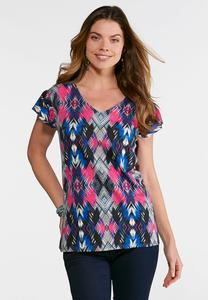 Plus Size Painted Arrow Top