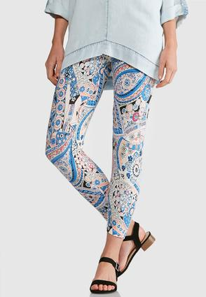 Floral Paisley Capri Leggings at Cato in Brooklyn, NY | Tuggl