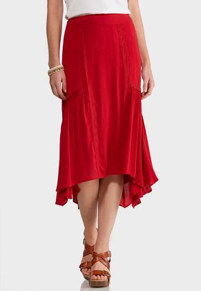 Lace Embellished Gauze Skirt | Tuggl