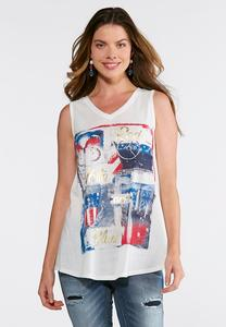 Plus Size Americana Graphic Tank