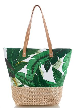 Tropical Leaf Large Tote | Tuggl
