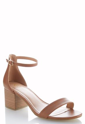 One Band Heeled Sandals | Tuggl