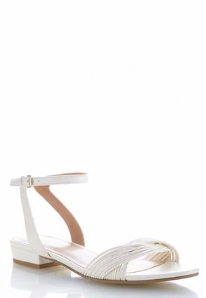 Twisted Vamp Strappy Sandals | Tuggl
