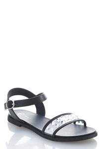 Embellished Strap Comfort Sandals