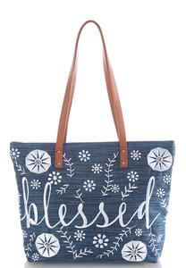 Embroidered Inspirational Tote