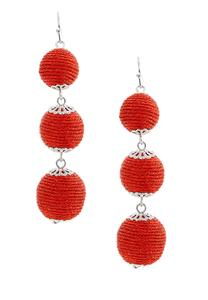 Thread Wrapped Ball Earrings