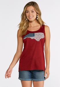 Plus Size Americana North Carolina State Tank