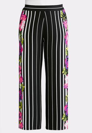 Plus Size Orchid Stripe Palazzo Pants | Tuggl